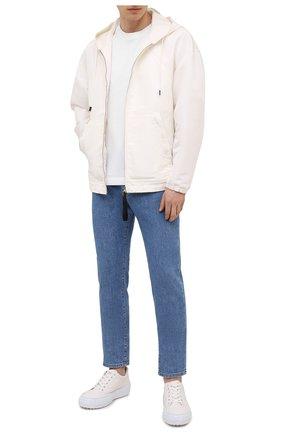 Мужская хлопковая футболка DOLCE & GABBANA белого цвета, арт. G8NC5T/FU7EQ | Фото 2