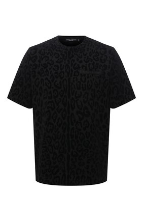 Мужская хлопковая футболка DOLCE & GABBANA черного цвета, арт. G8NA9Z/G7YTI | Фото 1