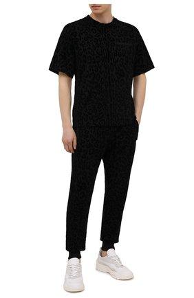 Мужская хлопковая футболка DOLCE & GABBANA черного цвета, арт. G8NA9Z/G7YTI | Фото 2