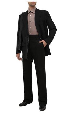 Мужская хлопковая рубашка KITON светло-коричневого цвета, арт. UMCNERH0780116 | Фото 2