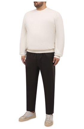 Мужской кашемировый свитшот BRUNELLO CUCINELLI кремвого цвета, арт. MTU019073W | Фото 2