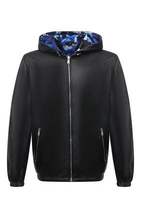Мужская двусторонняя куртка VERSACE черного цвета, арт. 1001605/1A01213   Фото 1