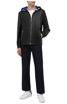 Мужская двусторонняя куртка VERSACE черного цвета, арт. 1001605/1A01213   Фото 2
