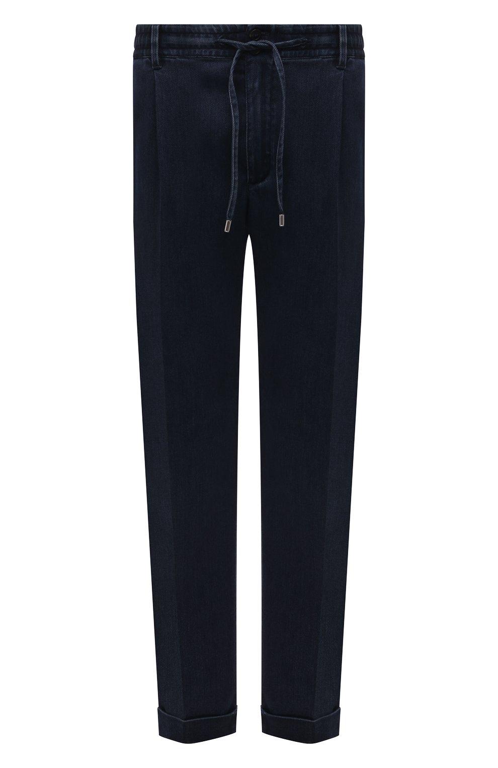 Мужские джинсы CORTIGIANI темно-синего цвета, арт. 213538/0000/3270/60-70   Фото 1 (Big sizes: Big Sizes; Силуэт М (брюки): Прямые; Кросс-КТ: Деним; Длина (брюки, джинсы): Стандартные; Стили: Классический; Материал внешний: Растительное волокно)