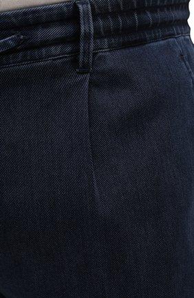 Мужские джинсы CORTIGIANI темно-синего цвета, арт. 213538/0000/3270/60-70   Фото 5 (Big sizes: Big Sizes; Силуэт М (брюки): Прямые; Кросс-КТ: Деним; Длина (брюки, джинсы): Стандартные; Стили: Классический; Материал внешний: Растительное волокно)
