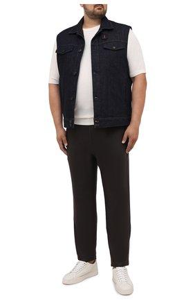 Мужской джинсовый жилет CORTIGIANI темно-синего цвета, арт. 218501/0000/4950/60-70 | Фото 2