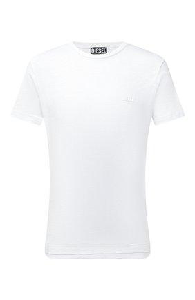 Мужская хлопковая футболка DIESEL белого цвета, арт. A02755/0WBBH | Фото 1