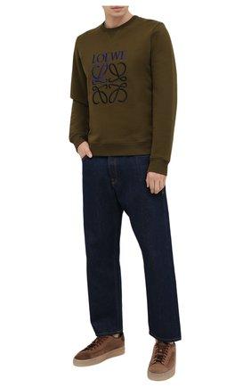 Мужские замшевые кеды SANTONI коричневого цвета, арт. MBGT21553TNERRAUS50 | Фото 2