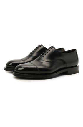 Мужские кожаные оксфорды SANTONI черного цвета, арт. MCCG17835MH4H0BRN01 | Фото 1