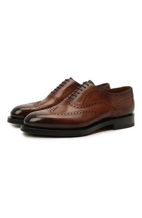 Мужские кожаные оксфорды SANTONI коричневого цвета, арт. MCCG17836MH4H0BRM52 | Фото 1