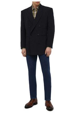 Мужские кожаные оксфорды SANTONI коричневого цвета, арт. MCCG17836MH4H0BRM52 | Фото 2