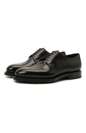 Мужские кожаные дерби SANTONI черного цвета, арт. MCCG17837MH4H0BRN01 | Фото 1