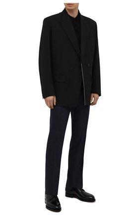 Мужские кожаные дерби SANTONI черного цвета, арт. MCCG17837MH4H0BRN01 | Фото 2