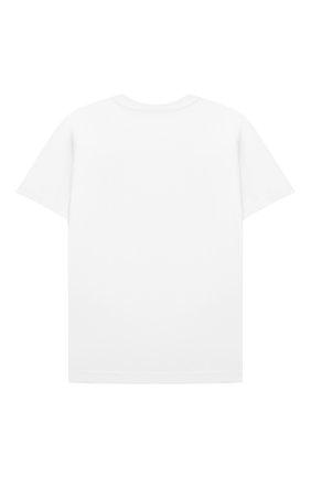 Детская хлопковая футболка BURBERRY белого цвета, арт. 8041052 | Фото 2
