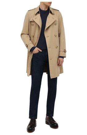 Мужские кожаные дерби ZEGNA COUTURE темно-коричневого цвета, арт. A4562X-LHHRS | Фото 2