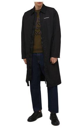 Мужские кожаные кеды triple stitch ZEGNA COUTURE черного цвета, арт. A4667X-LHCV0 | Фото 2