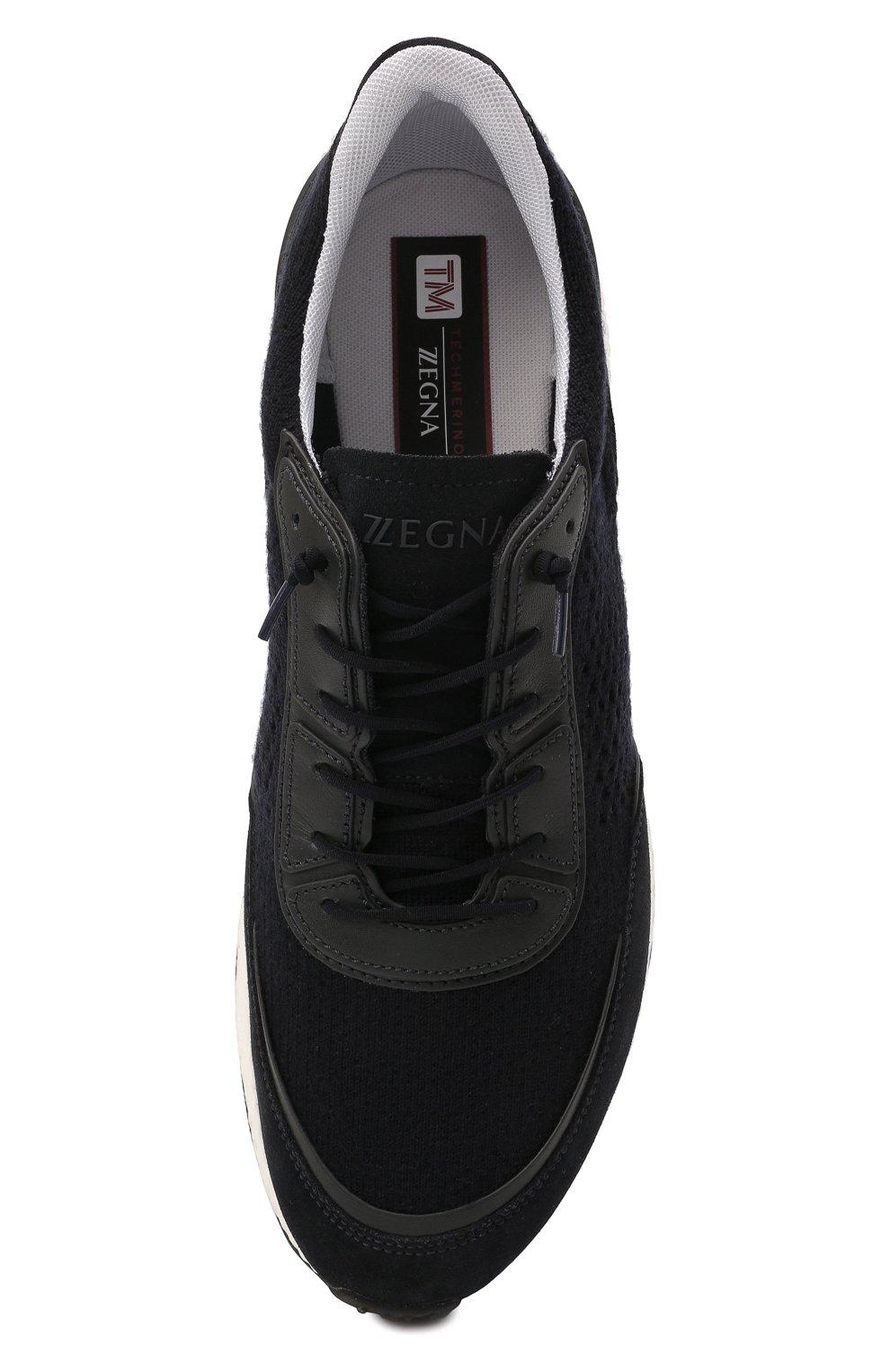 Мужские комбинированные кроссовки piuma Z ZEGNA темно-синего цвета, арт. A5107X-LHCB0   Фото 5 (Материал внешний: Текстиль; Материал внутренний: Текстиль; Подошва: Массивная)
