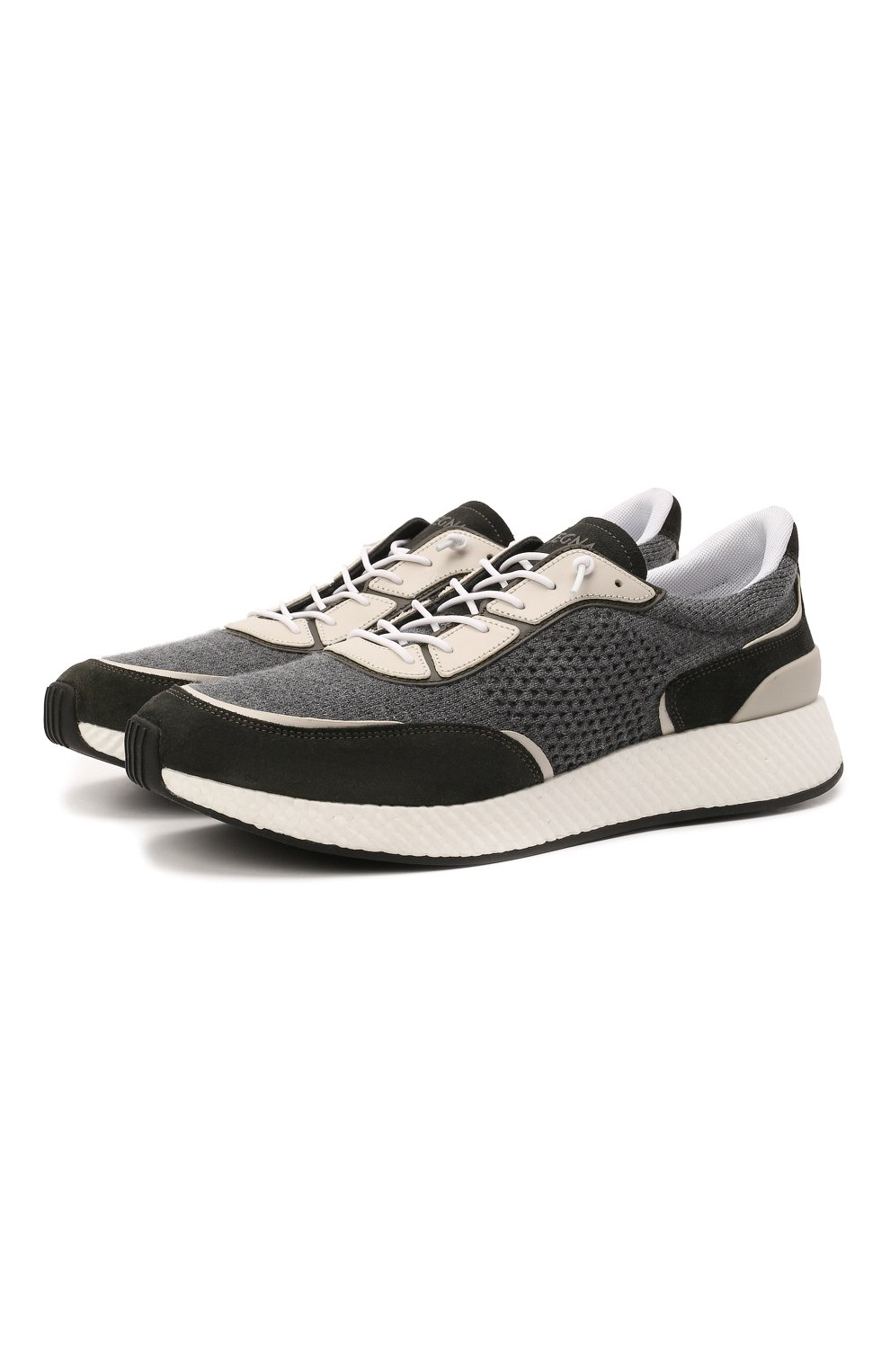 Мужские комбинированные кроссовки piuma Z ZEGNA серого цвета, арт. A5107X-LHCB0 | Фото 1 (Материал внешний: Текстиль; Материал внутренний: Текстиль; Подошва: Массивная)