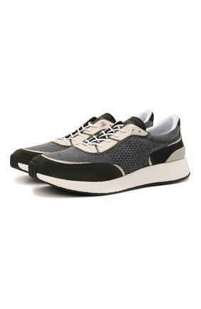 Мужские комбинированные кроссовки piuma Z ZEGNA серого цвета, арт. A5107X-LHCB0 | Фото 1