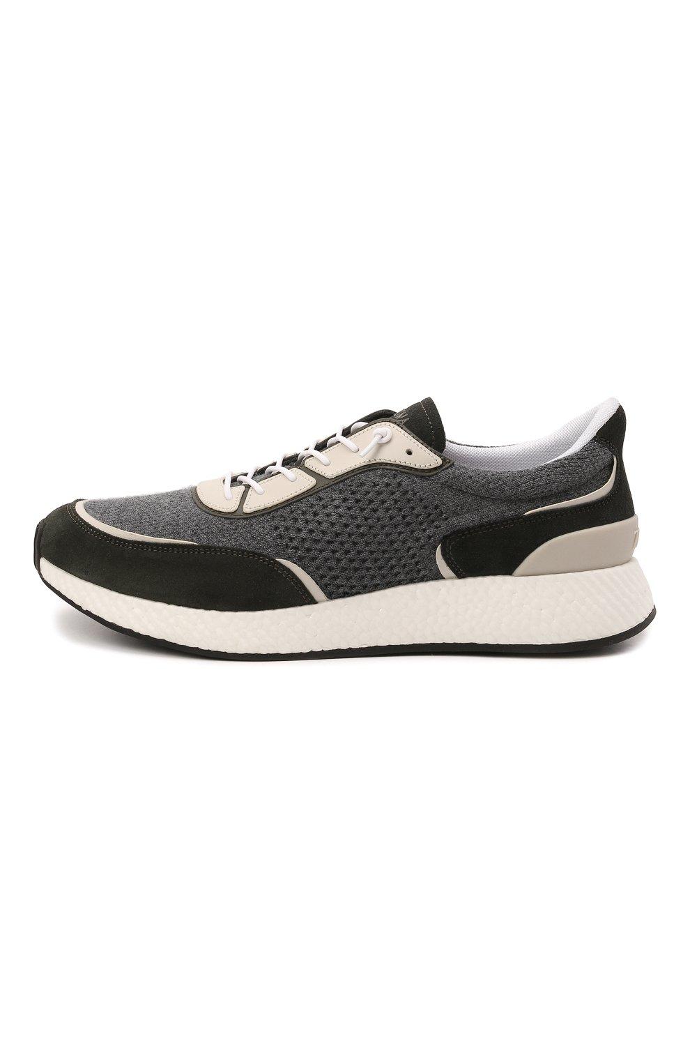 Мужские комбинированные кроссовки piuma Z ZEGNA серого цвета, арт. A5107X-LHCB0 | Фото 3 (Материал внешний: Текстиль; Материал внутренний: Текстиль; Подошва: Массивная)