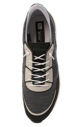 Мужские комбинированные кроссовки piuma Z ZEGNA серого цвета, арт. A5107X-LHCB0 | Фото 5 (Материал внешний: Текстиль; Материал внутренний: Текстиль; Подошва: Массивная)
