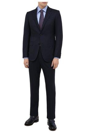 Мужской шерстяной костюм ERMENEGILDO ZEGNA темно-синего цвета, арт. 222504/221225 | Фото 1