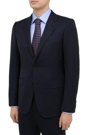 Мужской шерстяной костюм ERMENEGILDO ZEGNA темно-синего цвета, арт. 222504/221225 | Фото 2