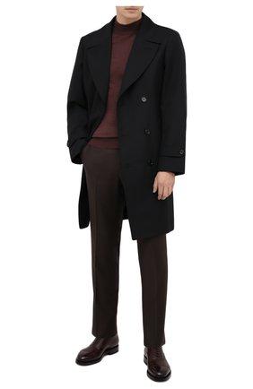 Мужские шерстяные брюки ERMENEGILDO ZEGNA коричневого цвета, арт. 228F13/75SB12 | Фото 2 (Длина (брюки, джинсы): Стандартные; Материал внешний: Шерсть; Материал подклада: Вискоза; Случай: Формальный; Стили: Классический)