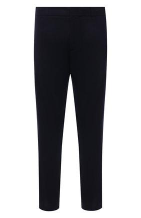 Мужские шерстяные джоггеры ERMENEGILDO ZEGNA темно-синего цвета, арт. UVI11/TT12 | Фото 1 (Материал внешний: Шерсть; Длина (брюки, джинсы): Стандартные; Мужское Кросс-КТ: Брюки-трикотаж; Стили: Спорт-шик; Силуэт М (брюки): Джоггеры)