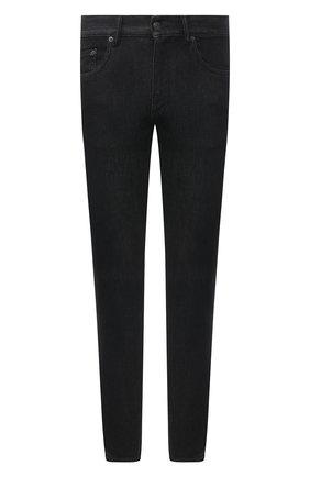 Мужские джинсы ERMENEGILDO ZEGNA темно-серого цвета, арт. UYI71/JS02 | Фото 1 (Длина (брюки, джинсы): Стандартные; Материал внешний: Хлопок; Стили: Кэжуэл; Силуэт М (брюки): Прямые)