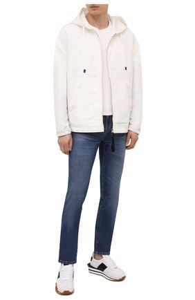 Мужские джинсы Z ZEGNA синего цвета, арт. VY771/ZZ530 | Фото 2 (Материал внешний: Хлопок; Длина (брюки, джинсы): Стандартные; Стили: Кэжуэл; Силуэт М (брюки): Прямые)