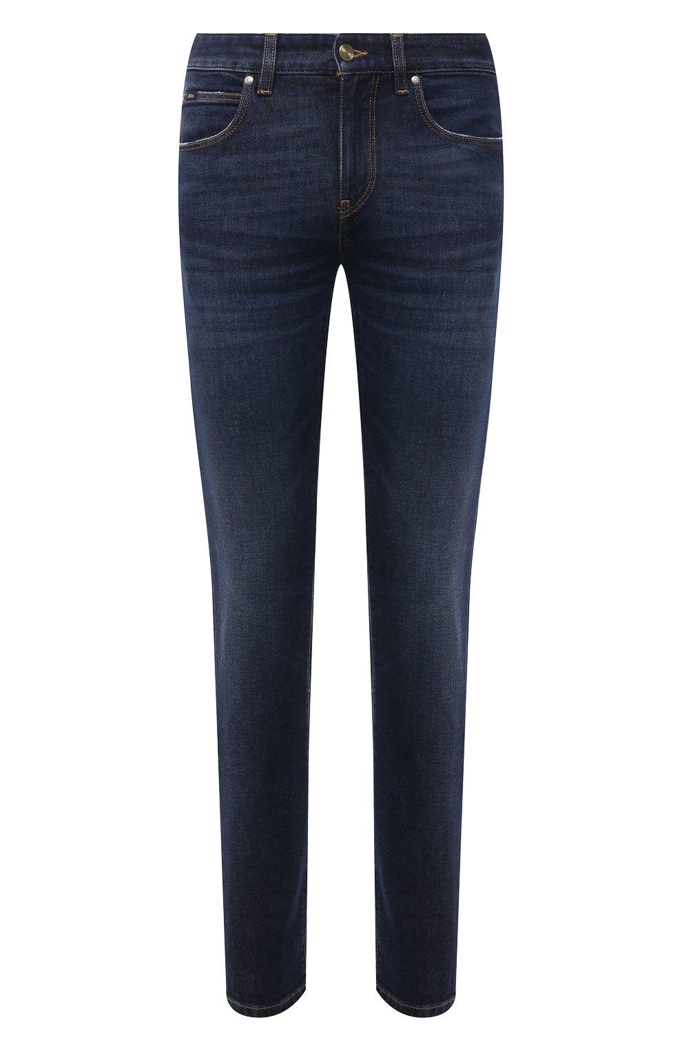 Мужские джинсы Z ZEGNA темно-синего цвета, арт. VY771/ZZ530 | Фото 1 (Силуэт М (брюки): Прямые; Длина (брюки, джинсы): Стандартные; Материал внешний: Хлопок; Стили: Кэжуэл)