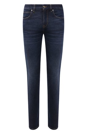 Мужские джинсы Z ZEGNA темно-синего цвета, арт. VY771/ZZ530 | Фото 1 (Материал внешний: Хлопок; Длина (брюки, джинсы): Стандартные; Стили: Кэжуэл; Силуэт М (брюки): Прямые)