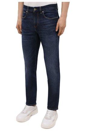 Мужские джинсы Z ZEGNA темно-синего цвета, арт. VY771/ZZ530 | Фото 3 (Силуэт М (брюки): Прямые; Длина (брюки, джинсы): Стандартные; Материал внешний: Хлопок; Стили: Кэжуэл)