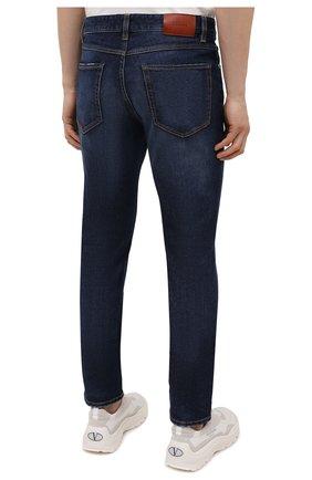 Мужские джинсы Z ZEGNA темно-синего цвета, арт. VY771/ZZ530 | Фото 4 (Силуэт М (брюки): Прямые; Длина (брюки, джинсы): Стандартные; Материал внешний: Хлопок; Стили: Кэжуэл)