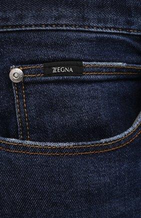 Мужские джинсы Z ZEGNA темно-синего цвета, арт. VY771/ZZ530 | Фото 5 (Силуэт М (брюки): Прямые; Длина (брюки, джинсы): Стандартные; Материал внешний: Хлопок; Стили: Кэжуэл)