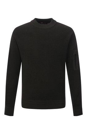 Мужской шерстяной свитер Z ZEGNA хаки цвета, арт. VYT16/ZZT112 | Фото 1
