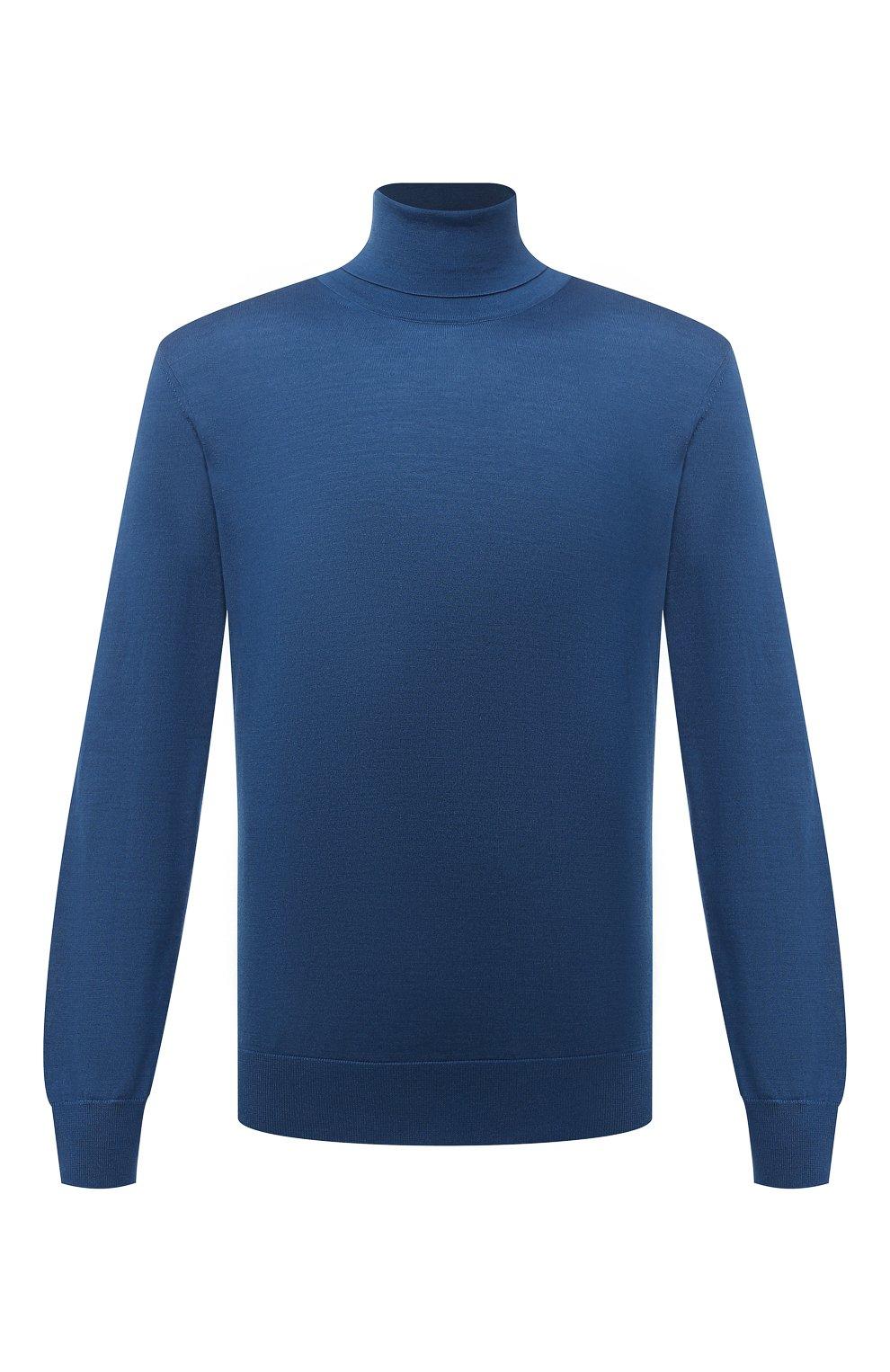 Мужской водолазка из кашемира и шелка ERMENEGILDO ZEGNA синего цвета, арт. UYJ00/120 | Фото 1