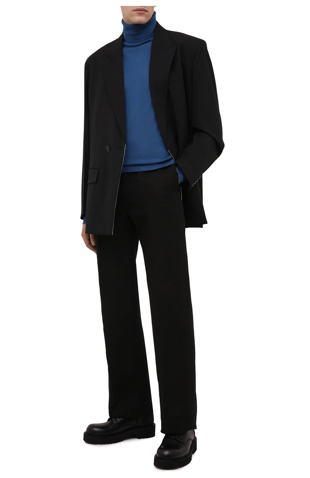Мужской водолазка из кашемира и шелка ERMENEGILDO ZEGNA синего цвета, арт. UYJ00/120 | Фото 2