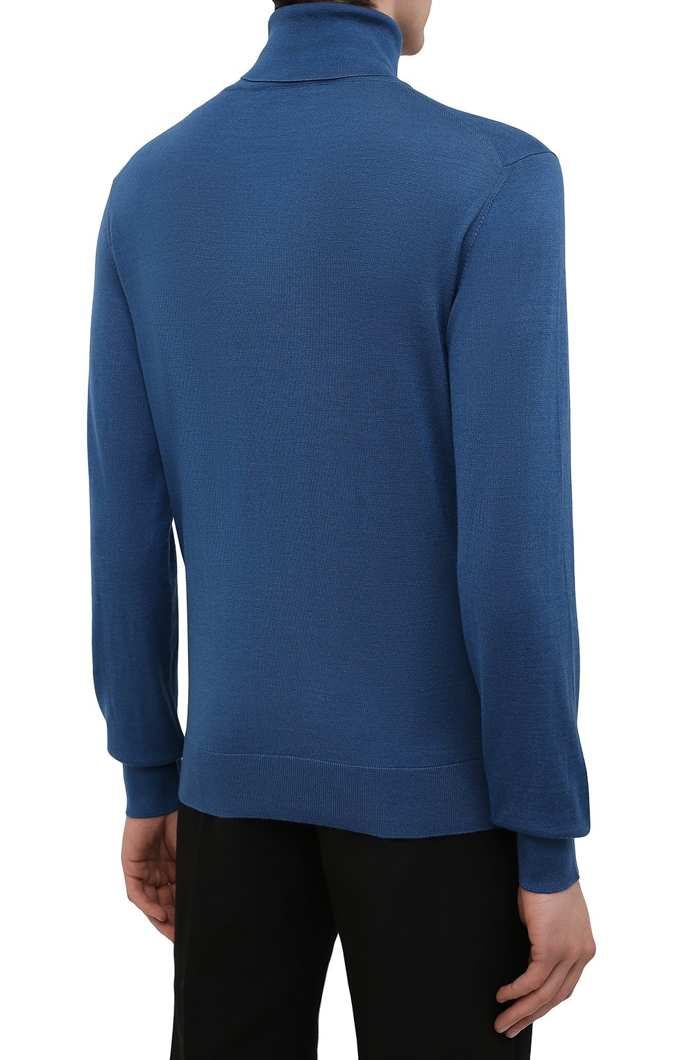 Мужской водолазка из кашемира и шелка ERMENEGILDO ZEGNA синего цвета, арт. UYJ00/120 | Фото 4