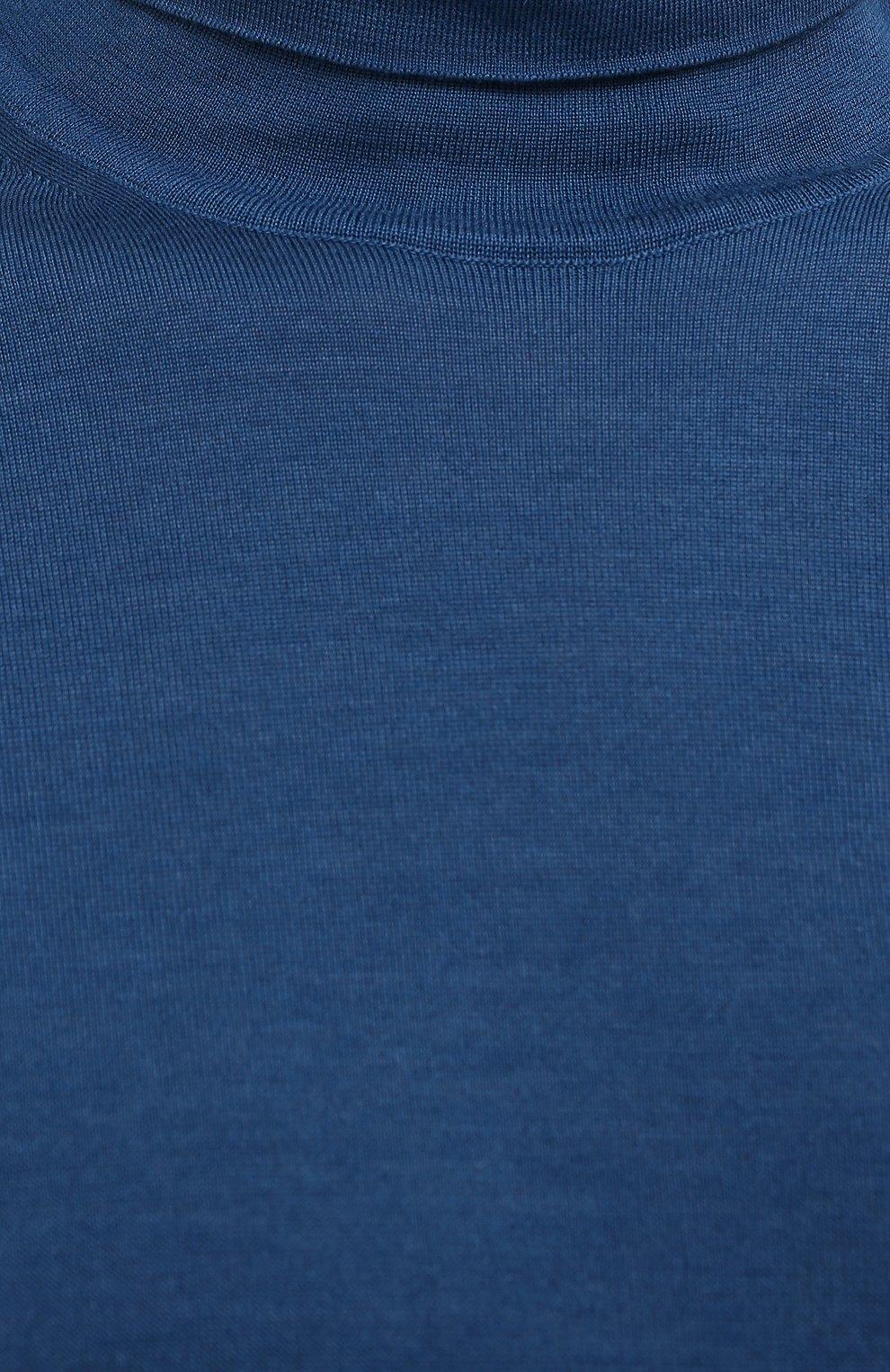 Мужской водолазка из кашемира и шелка ERMENEGILDO ZEGNA синего цвета, арт. UYJ00/120 | Фото 5