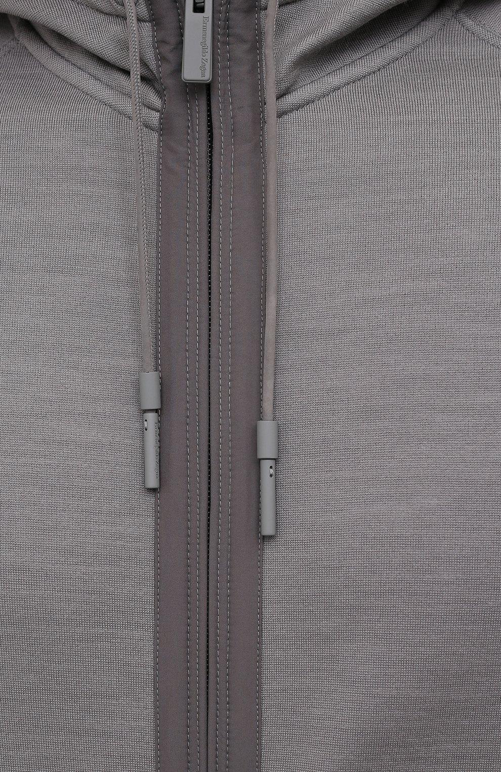 Мужской толстовка ERMENEGILDO ZEGNA серого цвета, арт. UY564/815 | Фото 5
