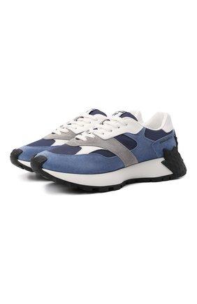 Мужские комбинированные кроссовки maple 64 DSQUARED2 синего цвета, арт. SNM0184 01601683 | Фото 1