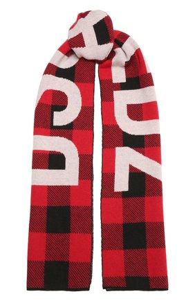 Мужской шерстяной шарф DSQUARED2 красного цвета, арт. KNM0063 01W04327   Фото 1
