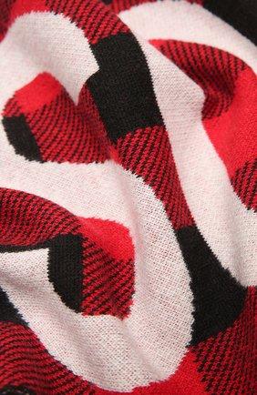 Мужской шерстяной шарф DSQUARED2 красного цвета, арт. KNM0063 01W04327   Фото 2