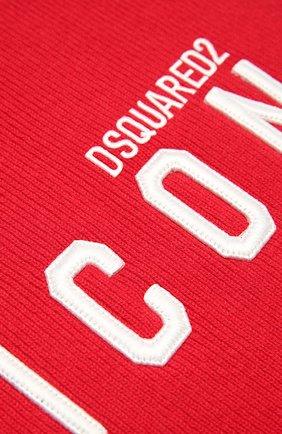 Мужской шерстяной шарф DSQUARED2 красного цвета, арт. KNM0011 01W04331   Фото 2