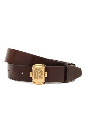 Мужской кожаный ремень DSQUARED2 коричневого цвета, арт. BEM0371 12900001 | Фото 1