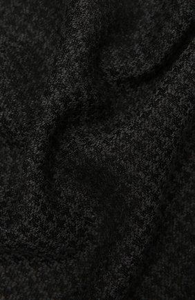 Мужской шарф из шерсти и шелка KITON темно-серого цвета, арт. USCIACX0291A | Фото 2