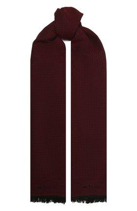 Мужской шарф из шерсти и шелка KITON бордового цвета, арт. USCIACX0291A | Фото 1