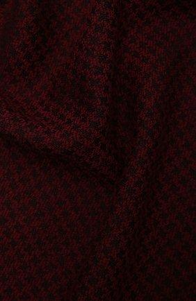 Мужской шарф из шерсти и шелка KITON бордового цвета, арт. USCIACX0291A | Фото 2